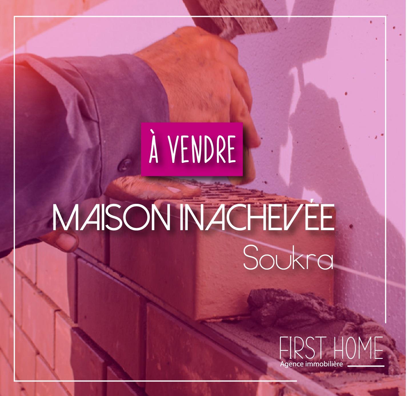 A vendre une maison inachevée à la Soukra