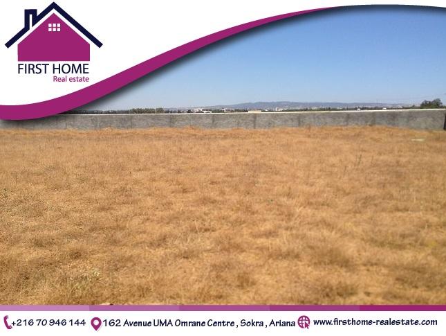 un terrain de 835 m² en vente à Hammamet sud