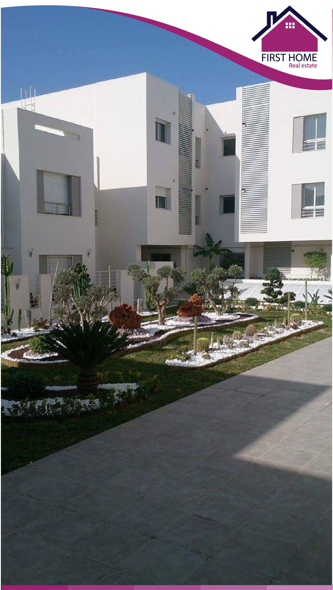 Un Appartement S+2 Haut standing en location à Chotrana 1
